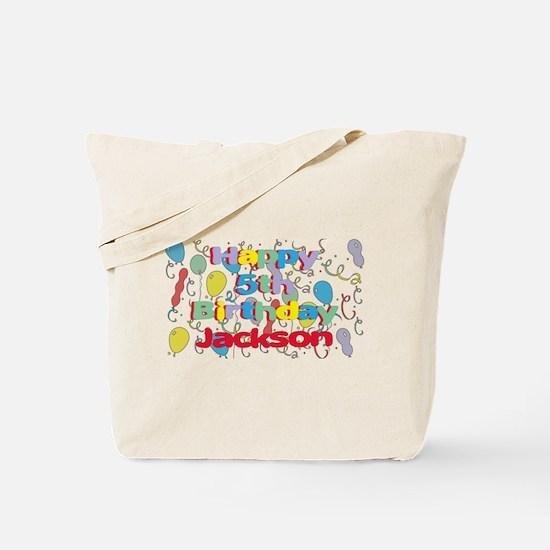 Jackson's 5th Birthday Tote Bag