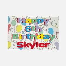 Skyler's 6th Birthday Rectangle Magnet