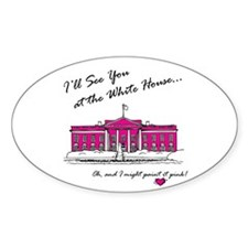 The Pink House Oval Decal