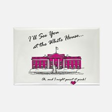 The Pink House Rectangle Magnet