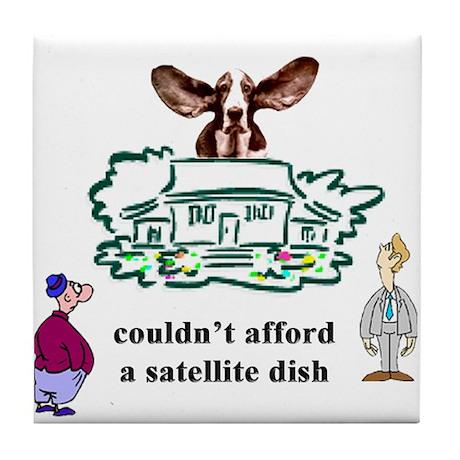 satellite dish Design Preview Tile Coaster