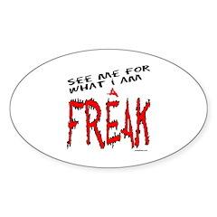 FREAK Oval Sticker (50 pk)