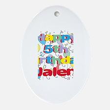 Jalen's 5th Birthday Oval Ornament