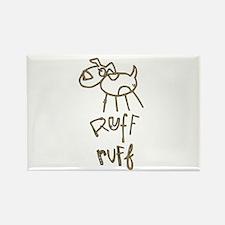 Ruff Ruff Rectangle Magnet