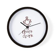 Cluck Cluck Wall Clock