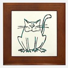Kitty Framed Tile