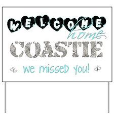 Welcome Home Coastie Yard Sign