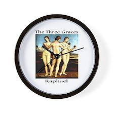 Raphael-3 Graces Wall Clock