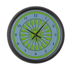 Green and Blue Large Wall Clock