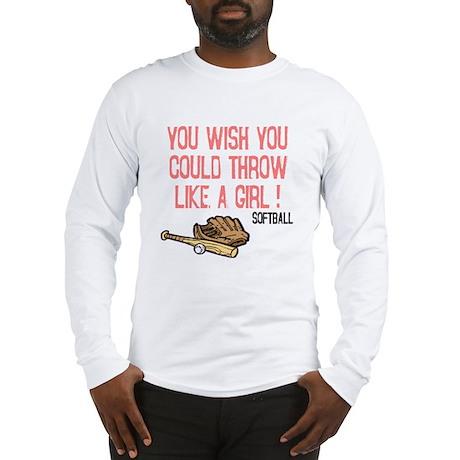 Throw Like a Girl Long Sleeve T-Shirt