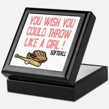 Throw Like a Girl Keepsake Box