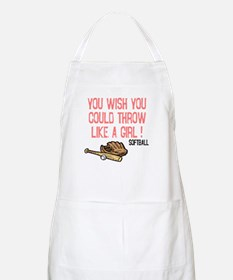 Throw Like a Girl BBQ Apron