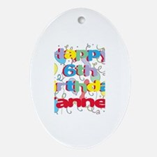 Tanner's 6th Birthday Oval Ornament