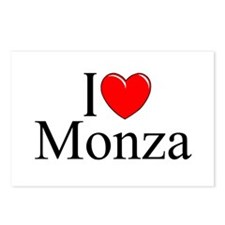 """I Love (Heart) Monza"" Postcards (Package of 8)"