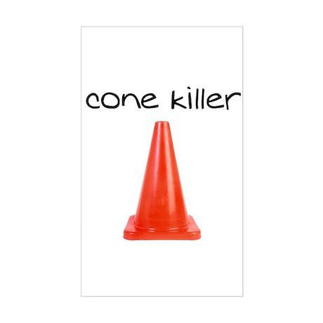Cone Killer Rectangle Sticker