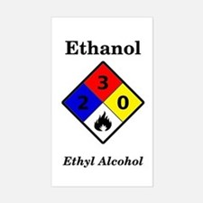 Ethanol Label Rectangle Decal