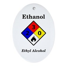 Ethanol Label Oval Ornament