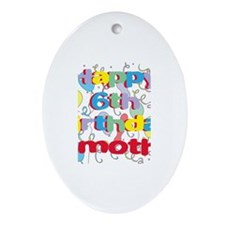 Timothy's 6th Birthday Oval Ornament