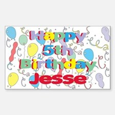 Jesse's 5th Birthday Rectangle Decal