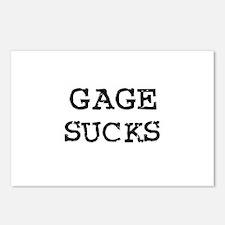 Gage Sucks Postcards (Package of 8)