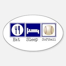 Eat, Sleep, Softball Oval Decal