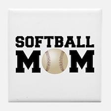 Softball Mom Tile Coaster