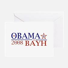 Obama Bayh 08 Greeting Card