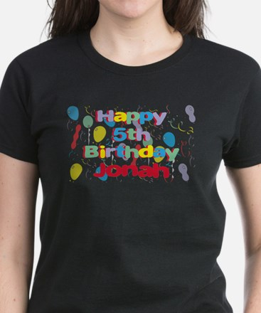 Jonah's 5th Birthday Women's Dark T-Shirt