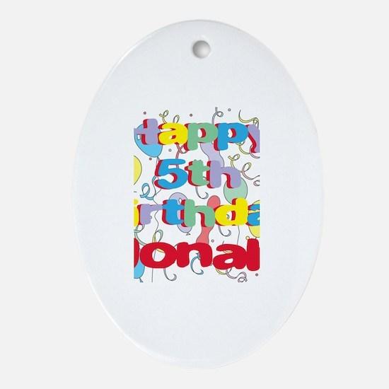Jonah's 5th Birthday Oval Ornament