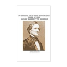 Jefferson Davis yearbook Rectangle Decal