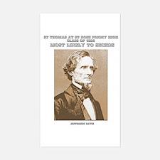 Jefferson Davis yearbook Rectangle Decal