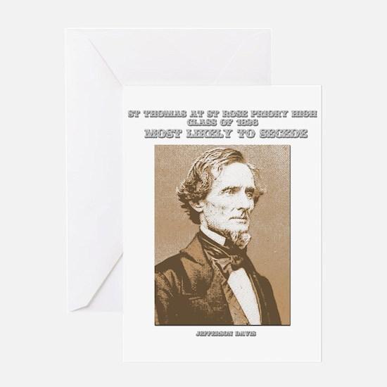 Jefferson Davis yearbook Greeting Card