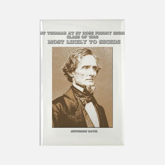 Jefferson Davis yearbook Rectangle Magnet
