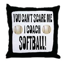 I Coach Softball Throw Pillow
