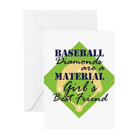 Baseball Diamonds are a Girls Greeting Card