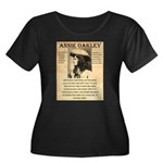Annie Oakley Women's Plus Size Scoop Neck Dark T-S