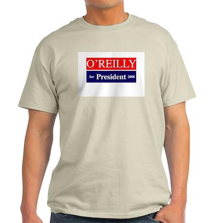 Bill O'Reilly for President '08 Ash Grey T-Shirt