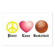 Peace, Love, Basketball Postcards (Package of 8)