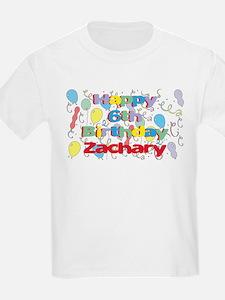 Zachary's 6th Birthday T-Shirt