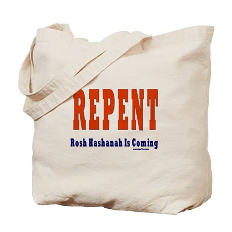 Repent Jewish Tote Bag