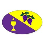 Caid Brewers' Guild Oval Sticker (10 pk)