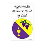 Caid Brewers' Guild Rectangle Sticker