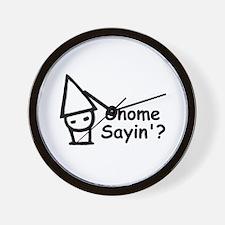 Gnome Sayin'? Wall Clock