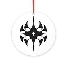 Black Medieval Star Ornament (Round)