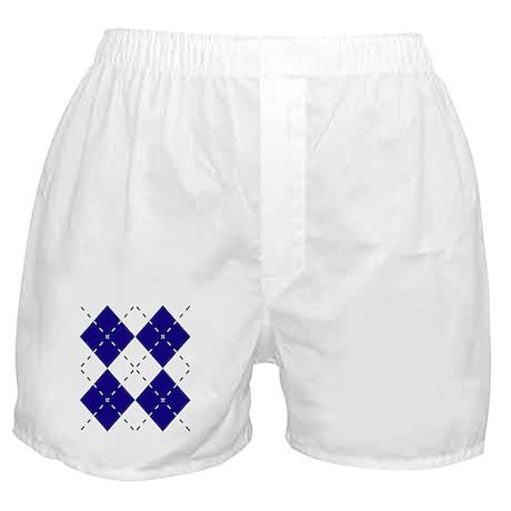 Blue & Yellow Argyle Boxer Shorts