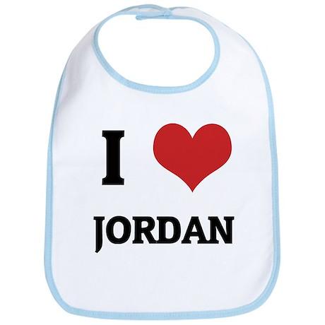 I Love Jordan Bib