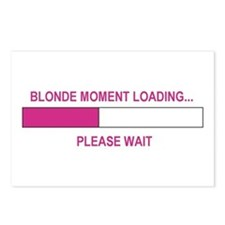 BLONDE MOMENT LOADING... Postcards (Package of 8)