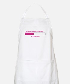 BLONDE MOMENT LOADING... BBQ Apron