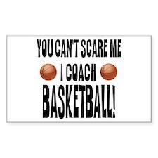I Coach Basketball Rectangle Decal