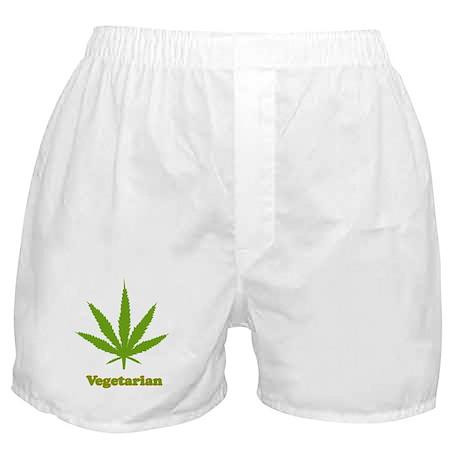Vegetarian Weed Boxer Shorts